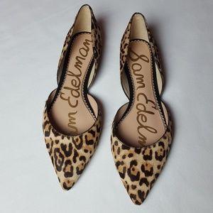 Sam Edelman Rodney Cow Hair Leopard Flats
